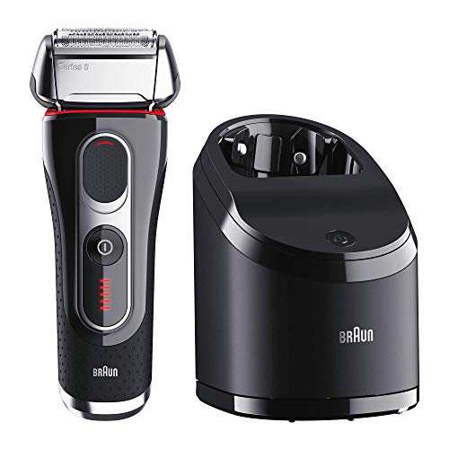 Braun Máquina de afeitar Rasierer 5-5050cc + 2 Reinigungskartuschen, negro
