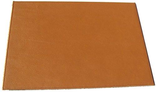 Vade escritorio sobremesa español de PIEL de ternera, doble. 47x34 cm (Marrón)