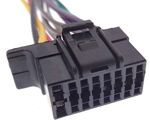 Conector tipo 3 compatible con Sony Radio de coche, cable adaptador DIN ISO, cable de conexión, arnés de cables