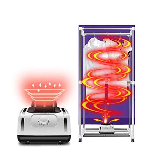 GJDU Tendedero Eléctrico Secador con 360º Ciclocomputador 1500W Gran Capacidad 15kg Carga Máx. Eficiencia Energética Secadora de Interior Eléctrica
