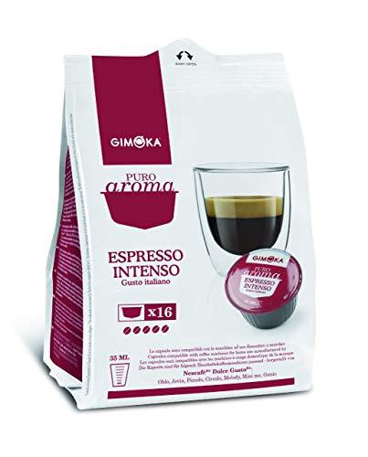 Gimoka Puro Aroma Espresso Intenso, Gusto Italiano, Kaffee, Kaffeekapsel Nescafé Dolce Gusto Kompatibel, Rot, 16 Kapseln