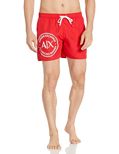 Armani Exchange Herren 1st to BE Noticed Badehose, Rot (Chinese RED - Chinese RED 18775), XX-Large (Herstellergröße:XXL)