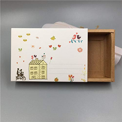 geschenkdoos LKU 30 stuk kartonnen verpakking, bruiloft inpakpapier verpakking, voor snoep/geschenkdoos, 11.4x8x2.1cm