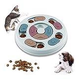 WELLXUNK Giocattolo Puzzle per Cani, Dog Puzzle Feeder, Gioco Rompicapo per Animale Domestico, Giocattolo Interattivo, per Cani, Cuccioli e Gatti, con Antiscivolo (Blu)