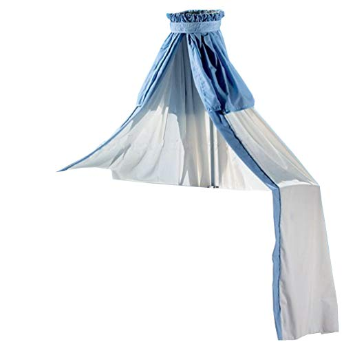 Sauthon Himmel/Volant mit Krone für Kinderbetten, weiß blau