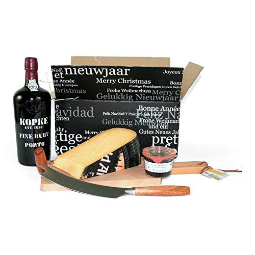 Port Geschenk mit extra Qualität Old Amsterdam Käse