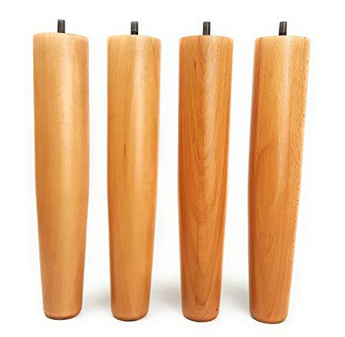 Viglietti set met 4 poten voor lattenbodems van hout, hoogte 29 cm