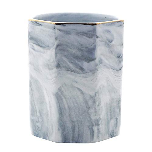 VICSPORT Desk Pen Holder Stand Marble Pattern Pencil Cup Pot Makeup Brush Holder