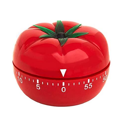 Temporizador de Cocina, 60 Minutos Temporizador Mecánico de Cocina en forma de Tomate de 360 Grados, Temporizador de Cuenta Regresiva, Herramienta de Cocina, Temporizador de Cocina, Alarma de Cocina