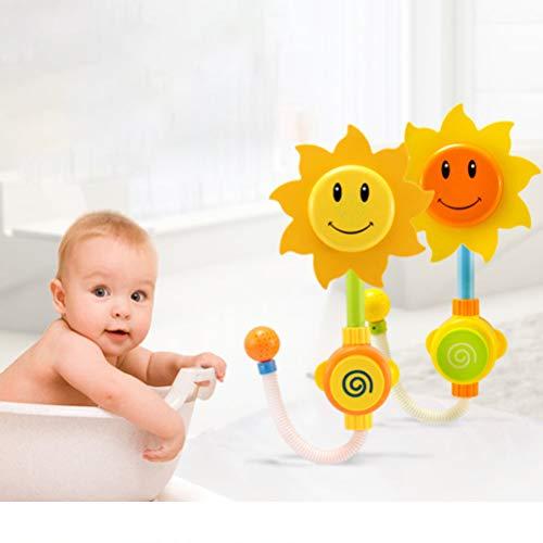 Ourine Babywanne Spielzeug Sonnenblume Dusche Wasserhahn, Baby Seestern Badespielzeug Blume Wasser Dusche Spray Whirlpool Brunnen Spielzeug Für Kinder Duschkopf Wie Gezeigt