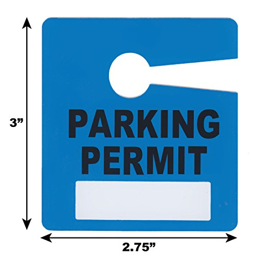 Parking Permit Pass Stock Hang Tags for Employees, Tenants, Students, Businesses, Office, Apartments, 10 Pack (Blue) Photo #3