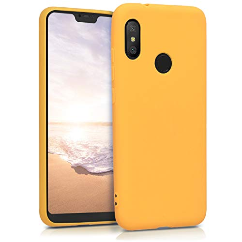 kwmobile Funda Compatible con Xiaomi Redmi 6 Pro/Mi A2 Lite - Carcasa de TPU Silicona - Protector Trasero en Amarillo Miel