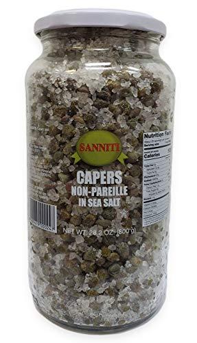 Sanniti Spanish Capers Non-Pareille in Sea Salt, 28.2 Ounce