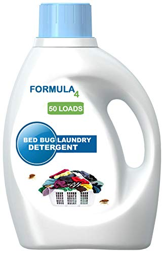 Formula 4 Bed Bug Detergent is a powerful concentrated formula that washes bed bugs, fleas, and dust mites from clothing and all types of laundry. Formula 4 Bed Bug Detergent works in both hot and cold water, in all types of machines. FREE 2 DAY PRIORITY SHIPPNG