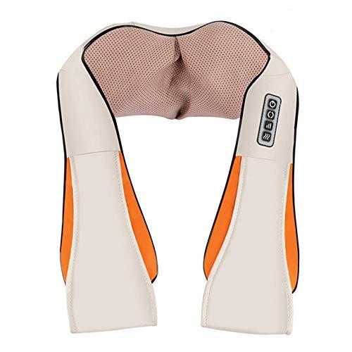 ESSEASON Masajeador de Espalda Recargable Inalámbrico - 16 Nodos Shiatsu Masajeador Cervical, con 3D Amasamiento Profundo Rotación y Función de Calor, Relajación para Cuello y Hombros
