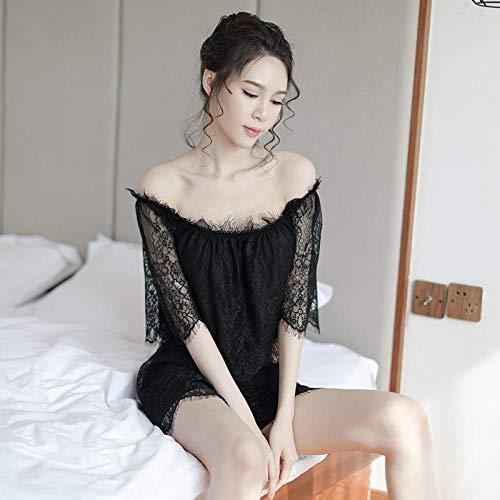 Dames Baby Poppen Lingerie Sets Nieuwe zomer kant woord schouder split vest korte broek pyjama set sex appeal lingerie tweedelig