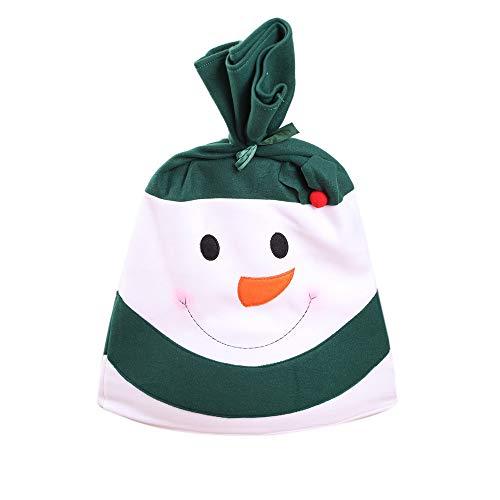 Allegorly Weihnachtsdekor Stuhlbezug Super Weich Stoff Süß Schneemann Drucken Esszimmer Restaurant Küche Haus Dekoration Sitz StuhlkissenWinter Warme Christmas Geschenk