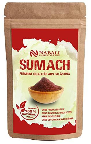 NABALI FAIRKOST FÜR ALLE Gewürz Sumach Sumac nach Ottolenghi 100 g - 100% naturell aromatisch traditionell frisch orientalisch I ohne Konservierungsstoffe I vegan