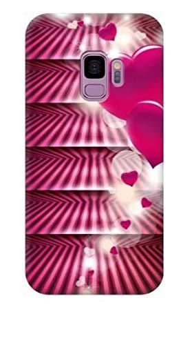 TheBigStock Cover Custodia per Samsung C7 C9 PRO Alpha E5 E7 Core Prime I8260 TPU Morbida 9 - AG33 Cuori Rosa Sfondo a Righe, Galaxy E7