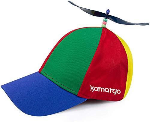 KAMARGO Neuheit Propeller Mütze Lustige Propeller Kappe für Partys, Karneval oder Geburtstage - Helikopter Kappe (Unisex Design)