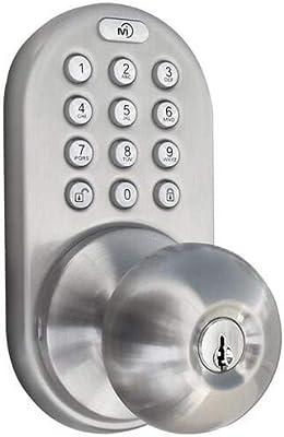 Milocks Tkk 02sn Tkk Sn Digital Door Knob Lock With Electronic Keypad For Interior Doors Satin Nickel Amazon Com