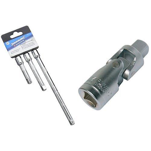 Silverline 598440 - Vaso estándar para llaves, 3 pzas Vaso