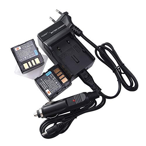 DSTE®(2 Pack)Ersatz Batterie und DC32E Reise Ladegerät Compatible für JVC BN-VF707U GR-D239 GR-D240 GR-D244 GR-D245 GR-D246 GR-D247 GR-D250 GR-D253 GR-D270 GR-D271 GR-D275 GR-D290 GR-D293 GR-D295