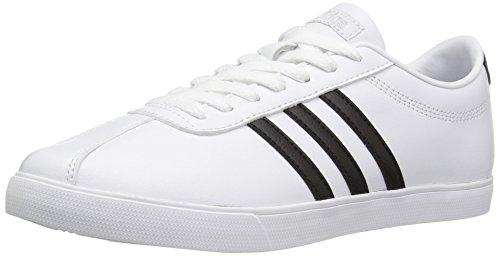 adidas NEO Women's Courtset W Fashion Sneaker, White/black/Matte Silver, 9 M US