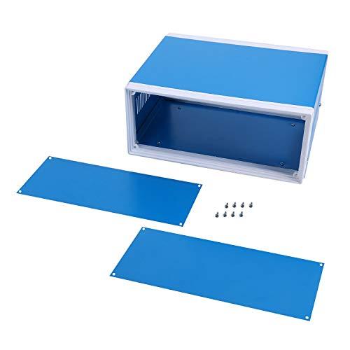 YaeCCC Electronic Enclosures Blue Metal Enclosure Project Case, 9.8' x...
