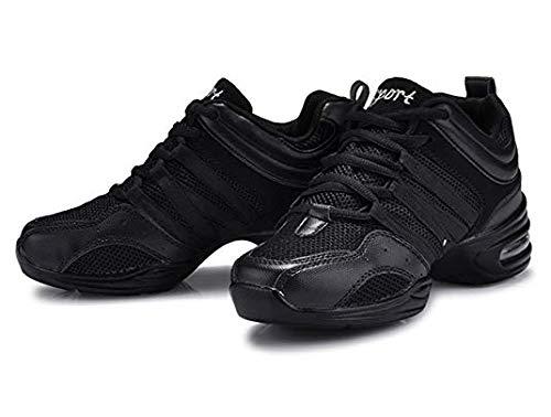 Dayiss® Mädchen Damen Modern Tanzschuhe jazzdance schuhe Tanz Sneaker Websneaker weichen Sohle Sport Schuhe Fitness Schuhe Halbschuhe Schürschuh Freizeitschuhe Turnschuh (41-Fußlänge 255mm, Schwarz) - 3