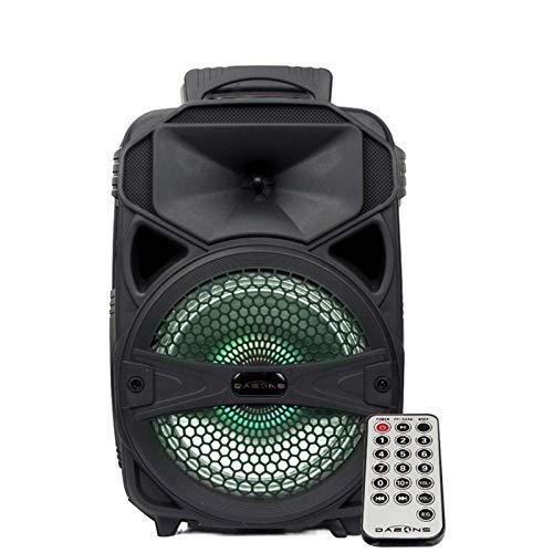 DAZONE - Altavoz portátil de 8 pulgadas con iluminación LED, batería recargable...