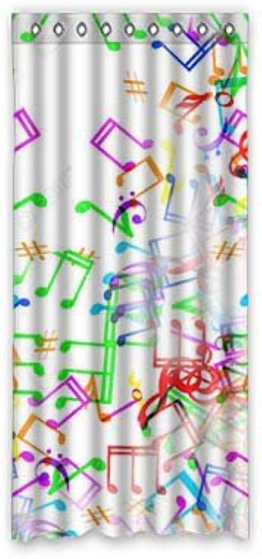 barato Dalliy Personalizado Nota Musical Cortina de Ventana Ventana Ventana poliéster 50 x108Sobre 127cm x 275cm, (One Piece), Poliuretano, A, 50  x 108   ¡No dudes! ¡Compra ahora!