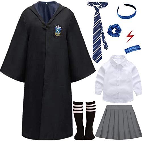 Kajikaji Magic Academy Uniforme de Estudiante Costume Nios Adultos Hembra Disfraz Fan Artculo Conjunto de Atuendo Halloween Carnaval Cosplay Navidad Fiesta Mascarada Camisa Falda Corbata Calcetn