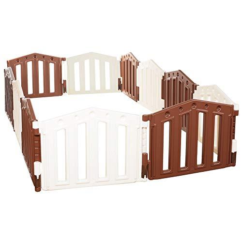 Parque infantil/bebé Parque 12 piezas de XXL by LCP Kids ® / barrera de seguridad/Ventosas de goma/Sistema de calidad - EN 71 certificado