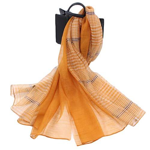 SHANG-JUN Pashmina Bufandas para Mujeres A Cuadros de Mosaico sección Delgada Bufanda literaria Bufanda Salvaje de la Mujer Bufandas para Mujeres (Color : 05, Size : 90cm*190cm)