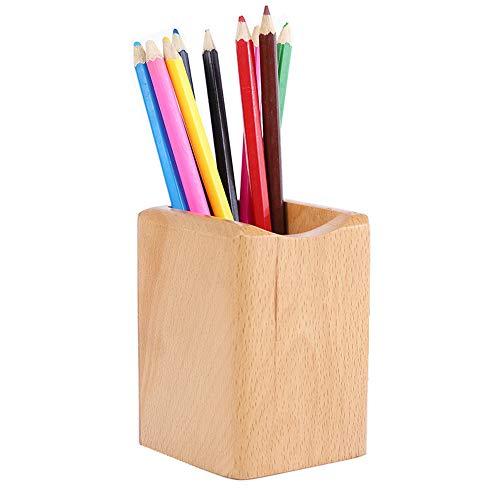 Schneespitze Portapenne in legno,Organizer da Scrivania in legno,Portapenne in legno da scrivania,Organizer Contenitore per uffici, scuole, sale studio