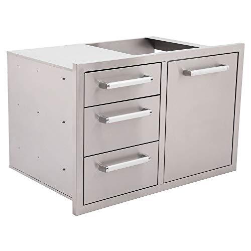 Bonfire Outdoor Kitchen Triple Drawer & Trash Drawer Combo, 304 Stainless Steel, CBATDT