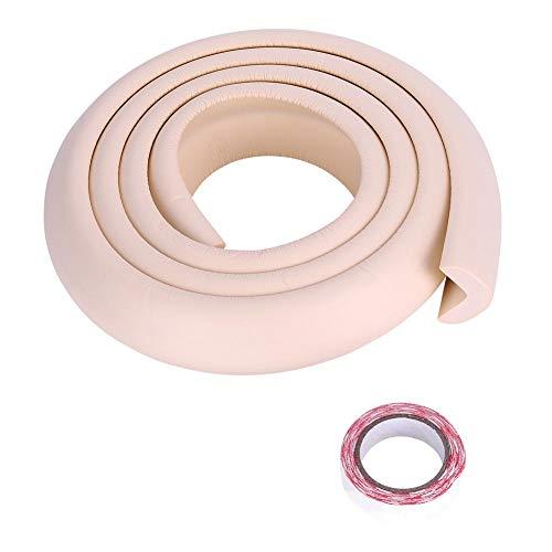 Fdit Protezione per paraurti Gomma per Bambini Paraspigoli in plastica per Angoli e Bordi Bambini Protezione Premium(Beige)