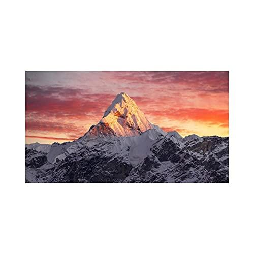 Dabbledown Cuadro de Lienzo Everest Mountain in Sunset Poster e Impresiones Lienzo Pared Arte Pintura Paisaje Imagen decoración 60X90CM