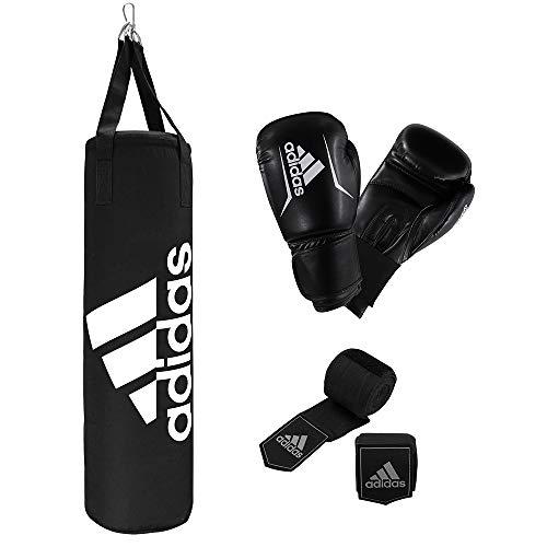 Adidas Unisex - Performance Boxset, volwassenen, zwart, bokszak: 80 cm handschoenen: 10 oz