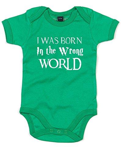 I Was Born in The Wrong World (Fantasy), Imprimé bébé Grandir - Vert/Blanc 12-18 Mois