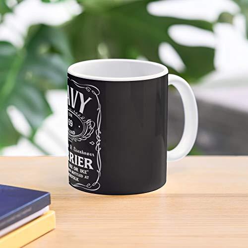 Aircraft Carrier Mug Dwight Eisenhower D Cvn Uss Miglior Caffè Regalo 11 Oz