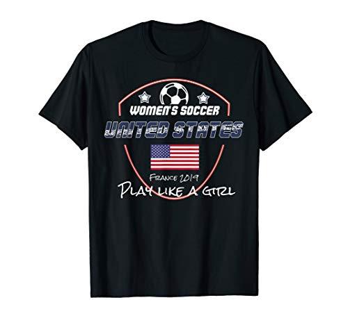 Vereinigte Staaten FrauenFußball Trikot 2019 USA Fußball T-Shirt