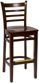 BFM Burlington Ladder Back Barstool Walnut Walnut Wood Seat Model Lwb101Wawaw