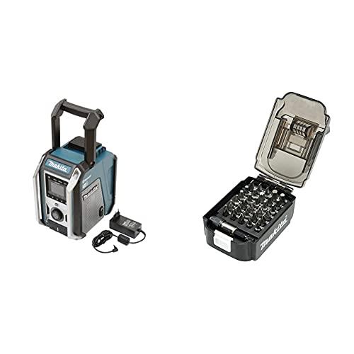 Makita DMR115 Akku-Baustellenradio (ohne Akku, ohne Ladegerät) & E-00016 Bit-Set in Akku-Box