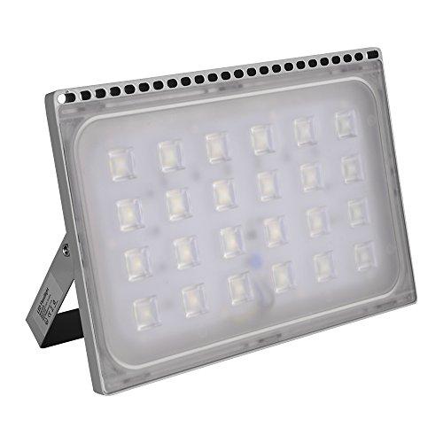 Yuanline Projecteur LED Extérieur 10W 20W 30W 50W 100W 150W 200W 300W Spot ultra-mince Blanc Froid Phare Intérieur et Extérieur Imperméable IP67 pour Jardin Cour Terrasse Square Usine (50W)
