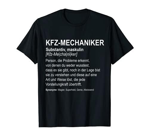 KFZ-Mechaniker T-Shirt I Geschenk Automechaniker I Werkstatt
