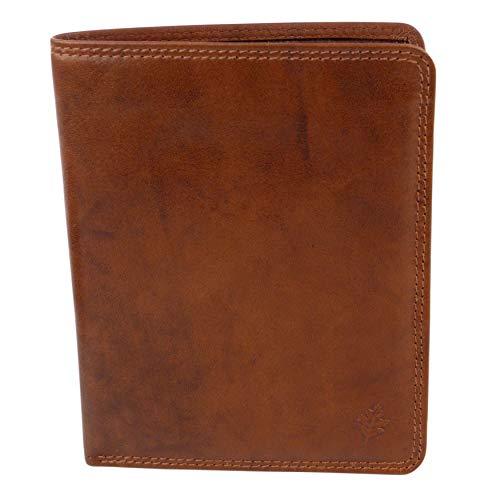 Golunski - Portefeuille Cuir Marron Noir ou Brun - Boite Emballage 17 Fentes de Cartes de Crédits - Boite Emballage - Neuf pour Homme - Dimensions: Approx 11cm x 14cm (4.25' x 5.5'), Brun