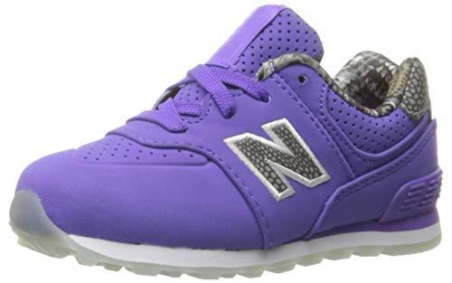 New Balance KL574 Sneaker, Purple, 6.5 M US Big Kid