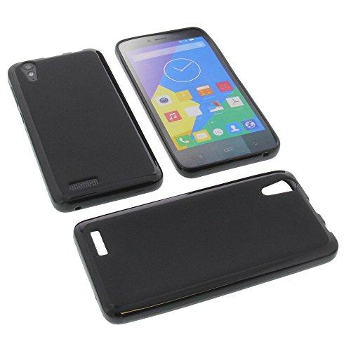 foto-kontor Tasche für Phicomm Energy L Gummi TPU Schutz Handytasche schwarz